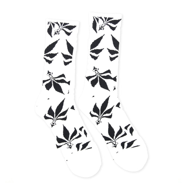 Socks – Leaves – White / Black