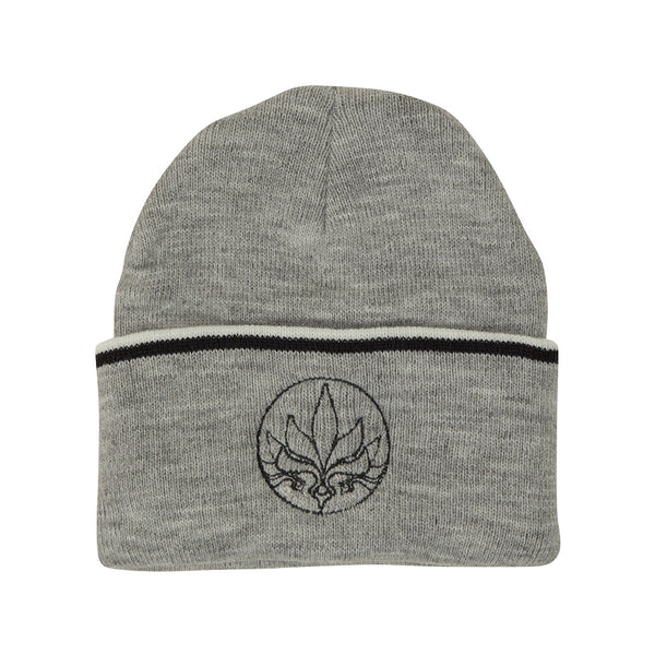 Stamp Stripe Beanie - Grey / White / Black