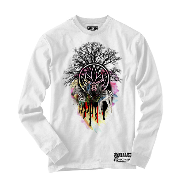 Long Sleeve - Zebra - White