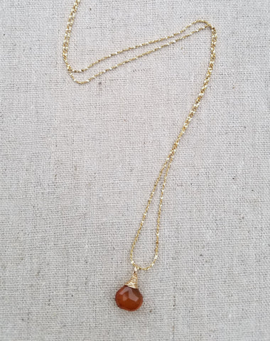 Amber Chalcedony Vermeil Necklace