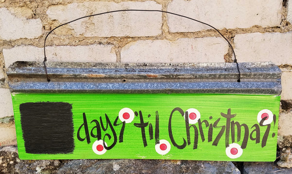 Days til Christmas Reclaimed Metal Sign