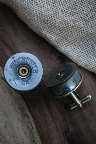 21 Gauge Shotgun Shell Cufflinks