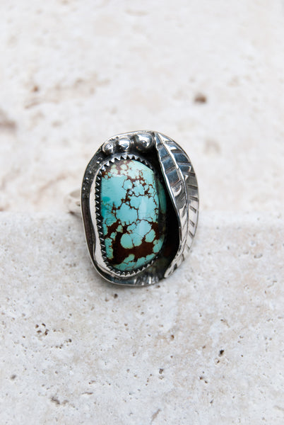 Desert Turquoise Ring in Sterling Silver