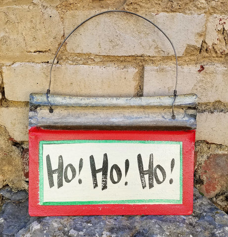 Ho! Ho! Ho! Reclaimed Metal Sign