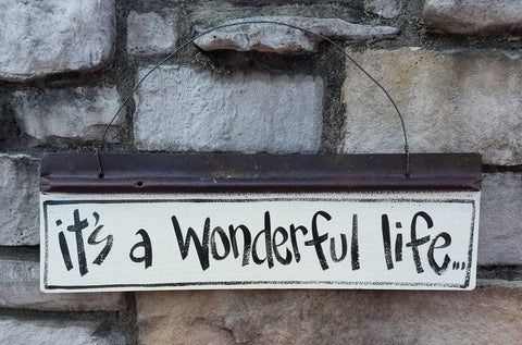 It's a Wonderful Life Reclaimed Metal Sign