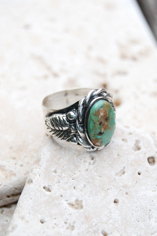 New Mexico Turquoise Cigar Band Ring