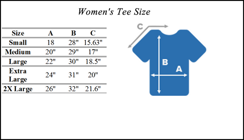 Women's T-Shirt Sizing Chart
