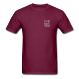Nurse Flag Gildan Ultra Cotton Adult T-Shirt (CK1213) - burgundy