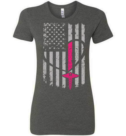 Nurse Flag Bella Ladies T-Shirt