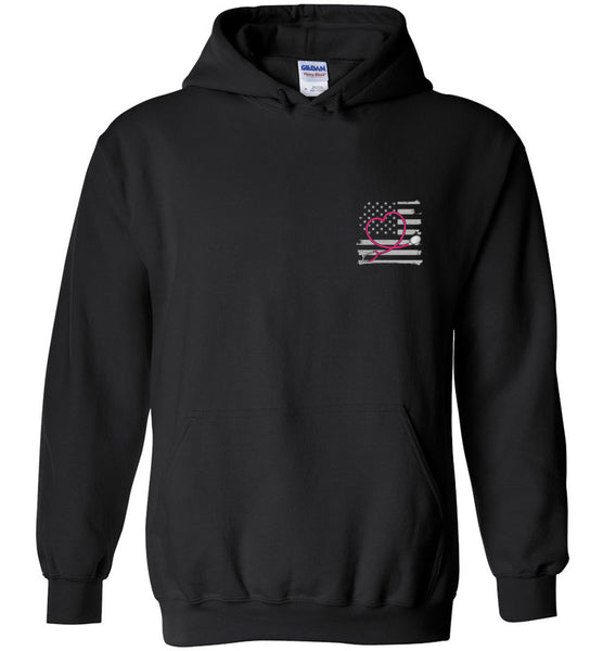 Nurse Flag with Stethoscope Unisex Pullover Hoodie