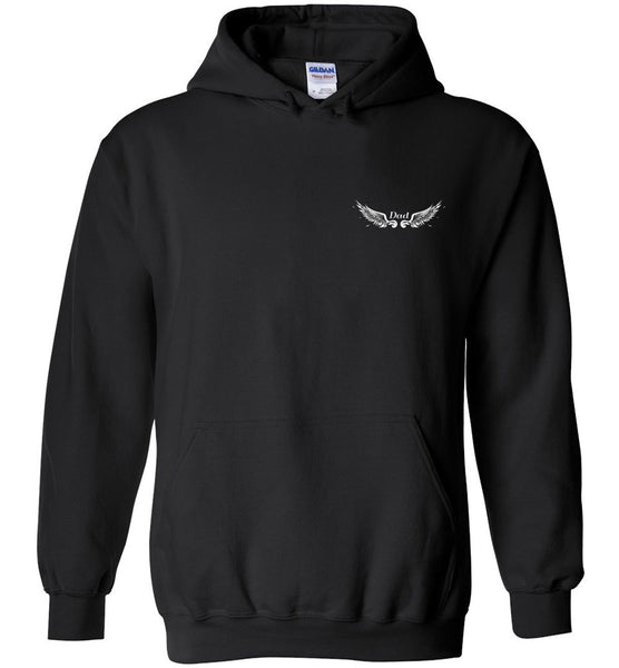 Dad Memorial Pullover Hoodie Jacket - Dad Angel In Heaven