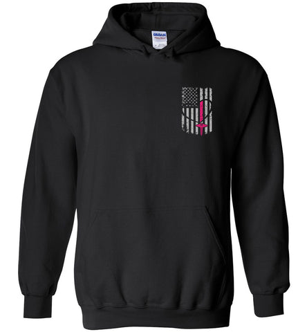 Nurse Flag Pullover Hoodie - Front and Back Print Flag Only