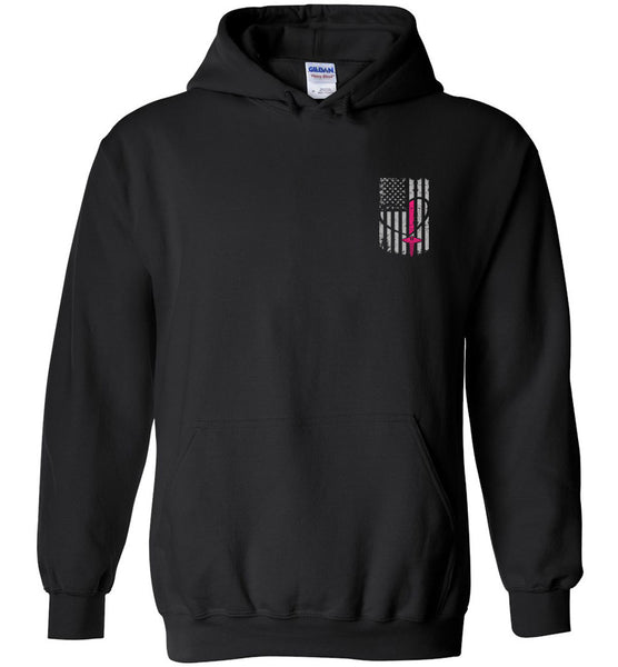 Nurse Flag Pullover Hoodie - Nurse Gift - Hoodie for Nurses Flag Only