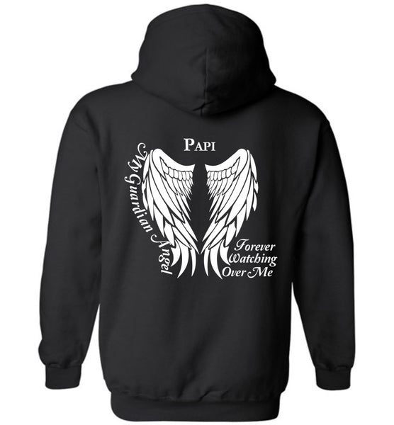 Papi My Guardian Angel Forever Watching Over Me Pullover Hoodie