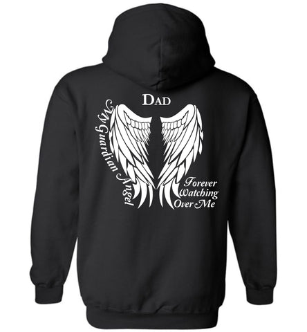 Dad Guardian Angel Hoodie