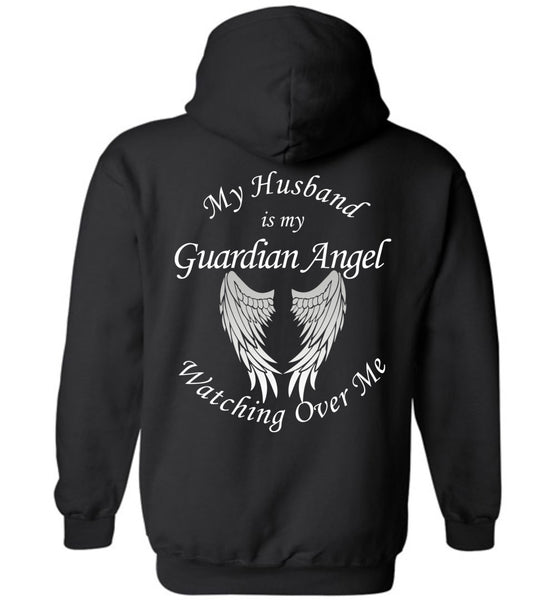 Husband Guardian Angel Pullover Hoodie
