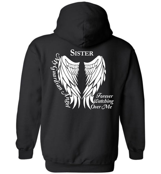 Sister Guardian Angel Forever Watching Over Me - Pullover Hoodie