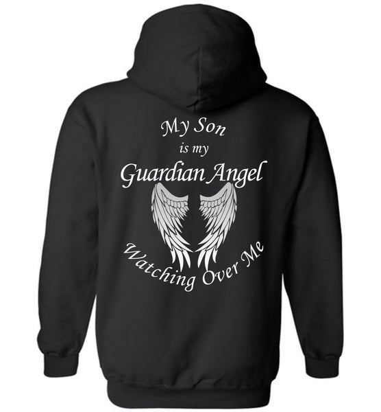 My Son is My Guardian Angel Watching Over Me Pullover Hoodie