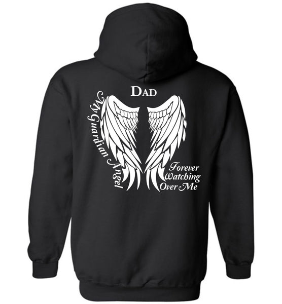 Dad Guardian Angel Hoodie for Youth