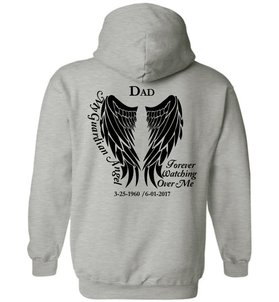 Dad Pullover Hoodie with Dates