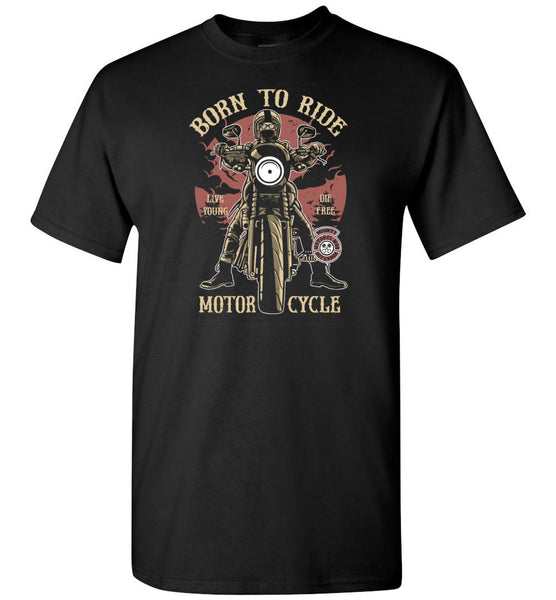 Born To Ride Live Young Die Free Motorcycle Tshirt