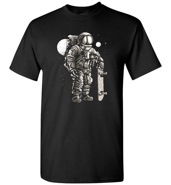 Astronaut Skater In Space With Skateboard Hipster Tshirt