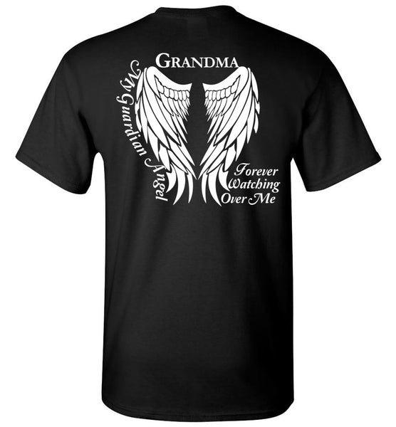 Grandma My Guardian Angle Memorial Unisex T-Shirt