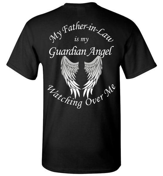 Father In Law Guardian Angel Unisex Tee