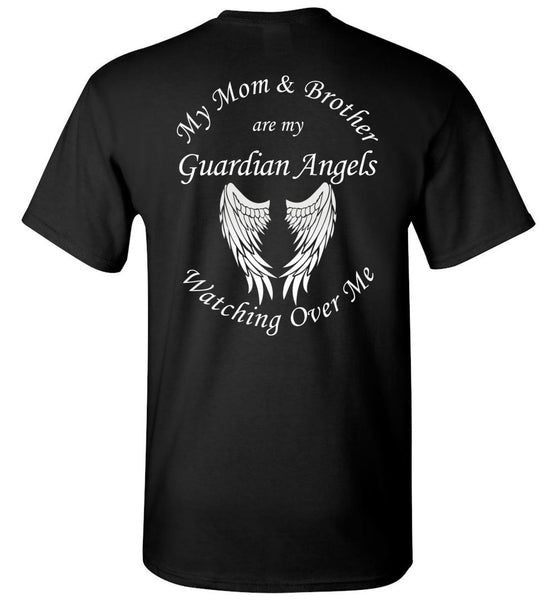 Mom and Brother Guardian Angels Memorial T-Shirt