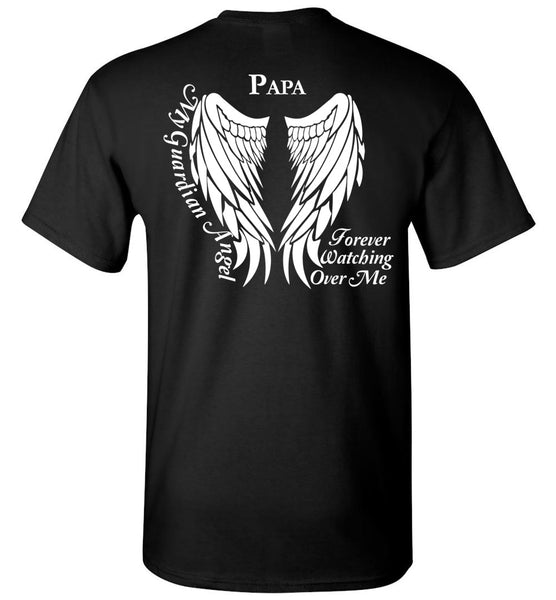 Papa Guardian Angel Unisex Memorial T-Shirt