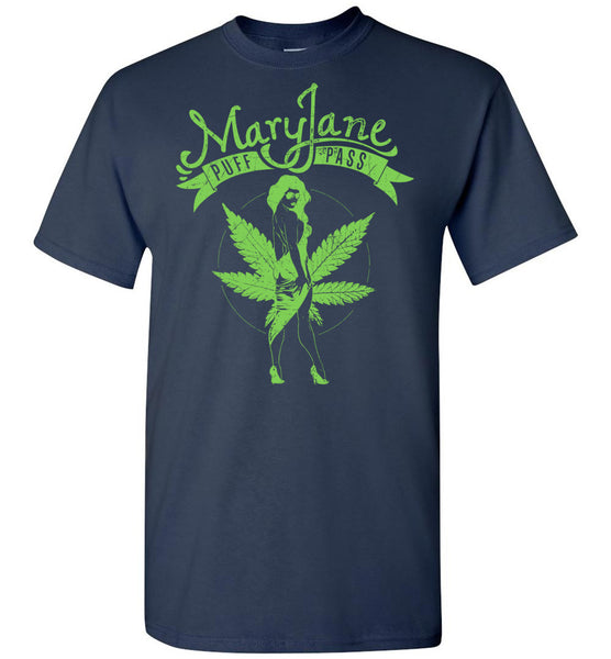 Mary Jane Hot Girl Marijuana Leaf Shirt