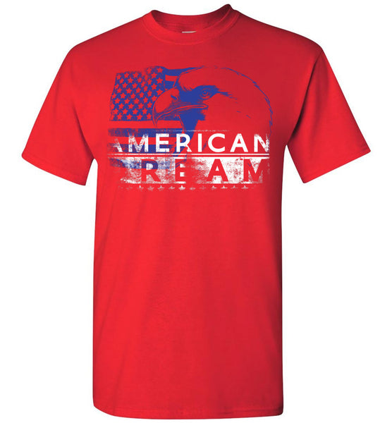 American Dream American Pride Bald Eagle American Flag Tshirt