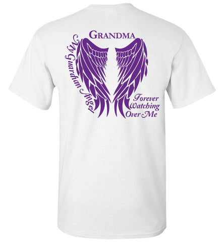 Grandma Guardian Angel T-Shirt Purple Wings