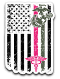 Custom Nurse Marine Decals