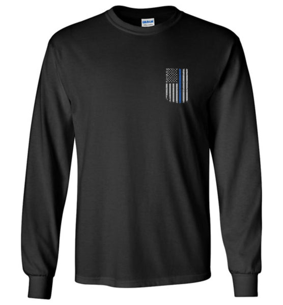 Real Warrior Bleed Blue Unisex Long Sleeve T-Shirt