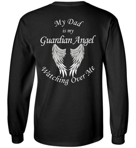 Dad Guardian Angel Long Sleeve Unisex T-Shirt