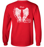 Dad My Guardian Angel Long Sleeve Memorial T-Shirt
