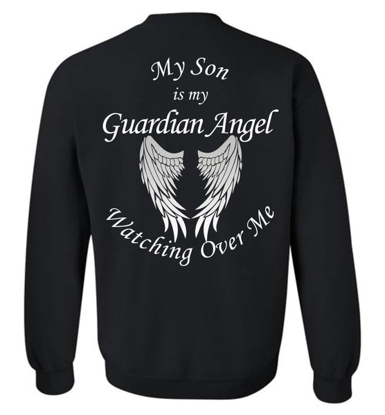 My Son is My Guardian Angel Watching Over Me Crewneck Sweatshirt