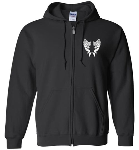 My Sister is My Guardian Angel - Memorial Zipper Hoodie Jacket