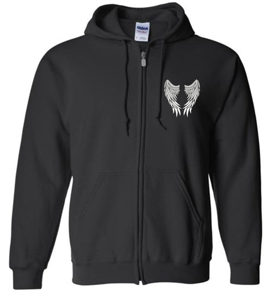 My Dad is my Guardian Angel Forever Watching Over Me - Full Front Zipper Hoodie Jacket