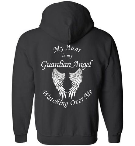 My Aunt is my Guardian Angel Memorial Zipper Hoodie Jacket