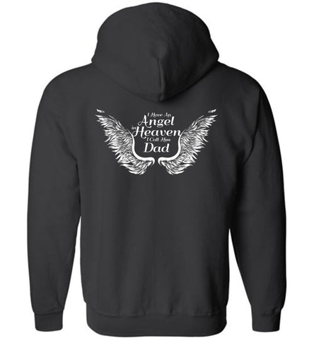 Dad Angel In Heaven Zipper Hoodie
