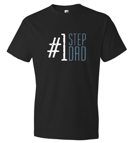 #1 Step Dad T-Shirt - Gift for Stepdad Fathers Day - CK1039