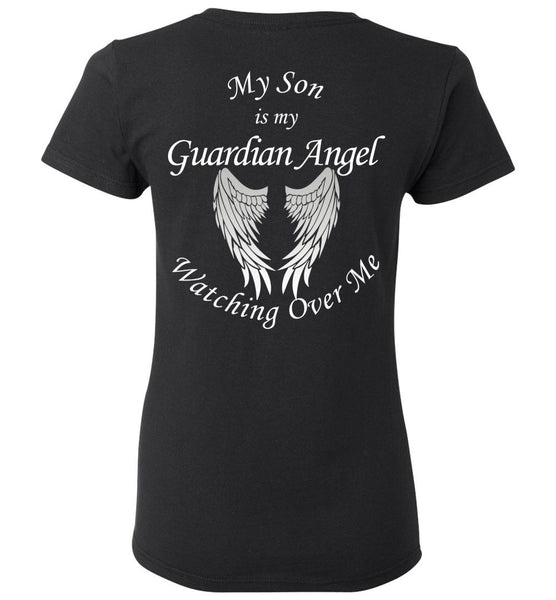 My Son Is My Guardian Angel Memorial Unisex T-Shirt - Loss of Son