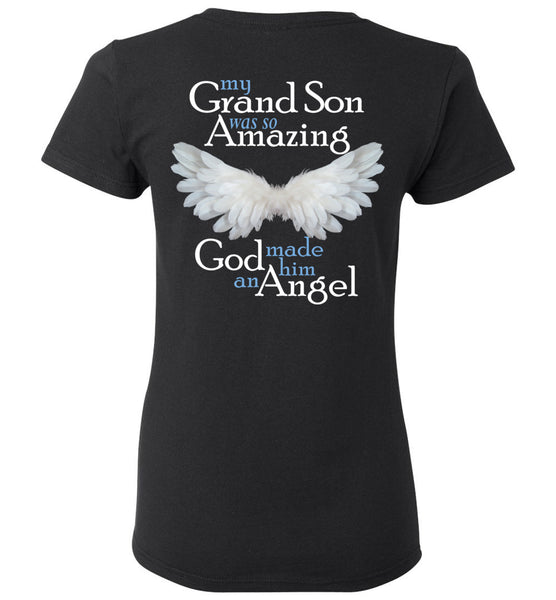 Grandson Amazing Angel Ladies Tee