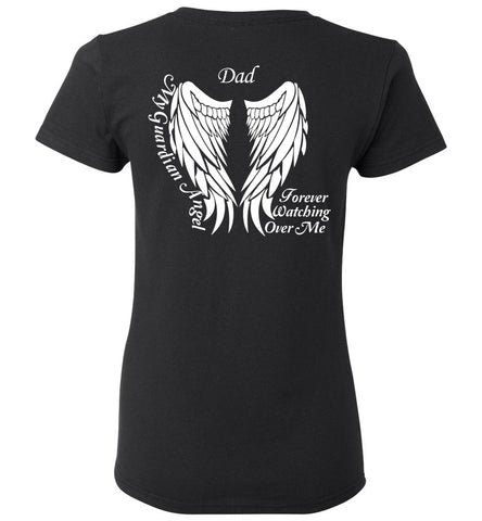 Dad Memorial Ladies T-Shirt - Dad My Guardian Angel