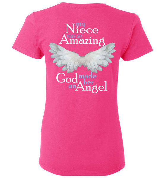 Niece Amazing Angel Ladies  T-Shirt