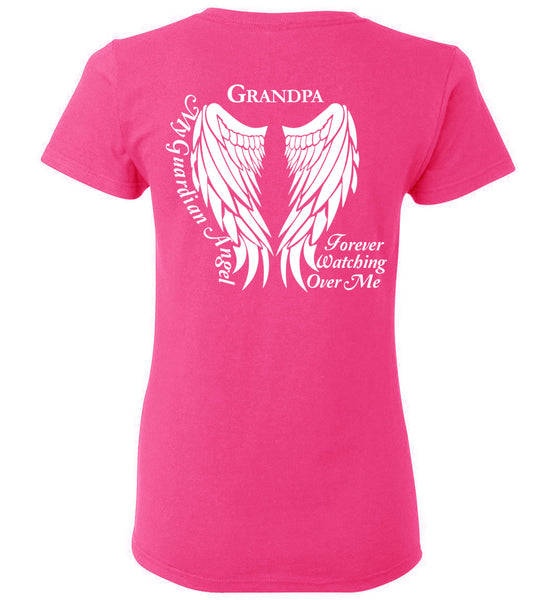 Grandpa Guardian Angel Ladies T-Shirt