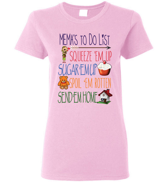 Mema's To Do List Ladies T-Shirt