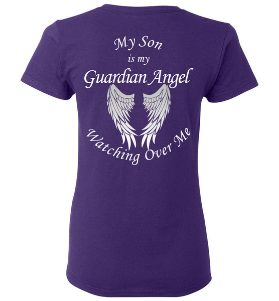 My Son is My Guardian Angel Watching Over Me Ladies T-Shirt